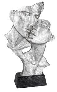 Formano abstrakte Büste verliebtes Paar schwarz silber 25x40 cm