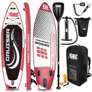 RE:SPORT® SUP Board 320cm Rot aufblasbar Stand Up Paddle Set Surfboard Paddling Premium