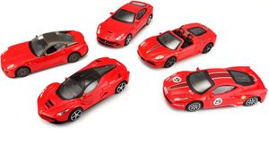 Bburago Ferrari 5er Set (rot, Maßstab 1:43)