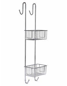 Duschablage zum Hängen aus Edelstahl rostfrei - Duschregal ohne Bohren rutschfest Duschkorb zum Einhängen mit Handtuchhalter Höhe 70 cm