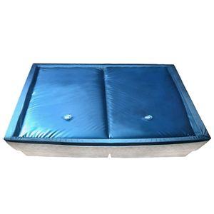 kinve Wasserbettmatratzen-Set mit Einlage + Trennwand 200 x 220 cm F3