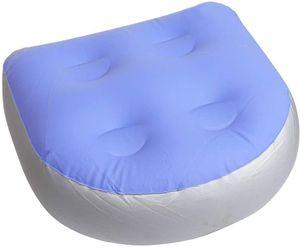 Soft Inflatable Back Spa-Kissen - Spa-Zubehör - Entspannender Booster für Badewanne, Whirlpool - Massagematte für Erwachsene und Kinder - Blau