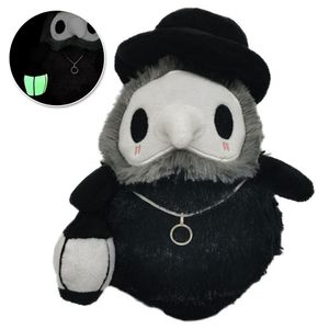 Halloween Plüsch Puppen Plague Doctor leuchtende Kuscheltier Dekoration Spielzeug Geschenk