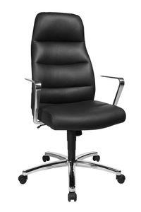 Topstar Chairman® 70 Chefsessel, schwarz Leder/chrom