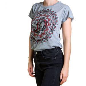 PANASIAM Babu T-Shirt Om & Hand Design, Farbe/Design:Hand-red, Größe:M