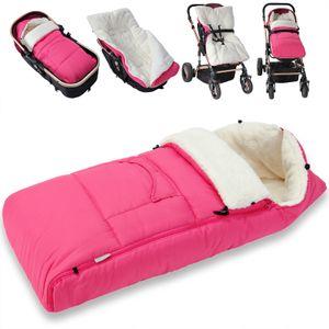 Monzana Baby Fußsack Babyfußsack Kinderwagen Winterfußsack Babyschale Babydecke Waschbar, Farbe:rosa