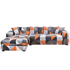 Sofa Überwürfe Sofabezug l Form Elastische, Stretch Sofaüberwurf Antirutsch 2er Set 3 Sitzer + 3 Sitzer Sofahusse Sofa Bezug für L-Form Sofa mit 4 Stücke Kissenbezug