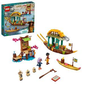 LEGO 43185 Disney Princess Bouns Boot Spielzeug mit 2 Minipuppen aus dem Film Raya und der letzte Drache