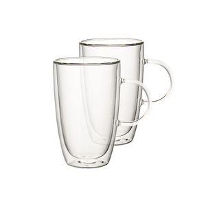 Villeroy & Boch Artesano Hot&Cold Beverages Tasse Größe XL Set 2 tlg. klar Borosilikatglas,Keramik,Edelstahl 1172438088