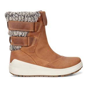 ecco Noyce Damen Stiefel Braun Schuhe, Größe:38