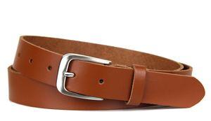Ledergürtel für Damen und Herren, Jeans & Anzug Gürtel 3 cm breit, Braun Echtleder, Gr. 105