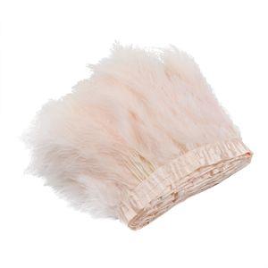 2m Putenfederbesatz Fransen zum Nähen Bastelkostüme Kleider Fascinator Quaste Band blasses Pink