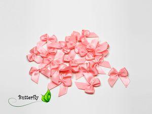 Satinschleifen 25mm, 20 Stück, Farbe:hell rosa 150
