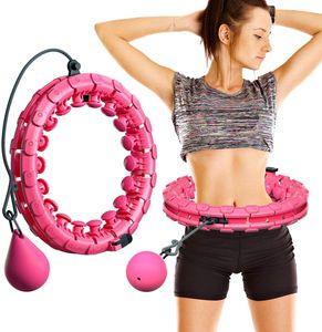 Smart Hula Hoop nicht fallen, 24 Knoten, Bauch Fitness Hula Hoops für Erwachsene, Kinder, 2 in 1 Fitness  und Massage
