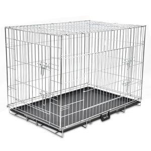 Faltbare Hundebox Hundekäfig Hundetransportbox Metall XL
