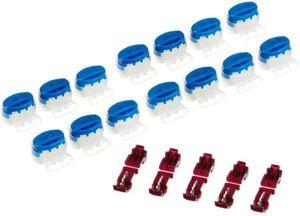 15 Kabel Verbinder + 5 Anschlussklemmen kompatibel für Gardena ® Mähroboter  Kabelverbinder in der wiederverschließbaren Box - Original 3M Scotchlok