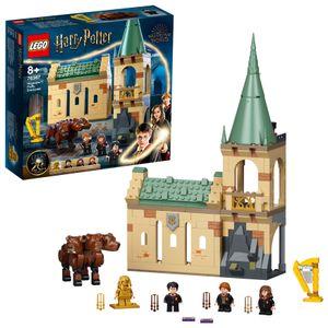 LEGO 76387 Harry Potter Hogwarts: Begegnung mit Fluffy Set, Spielzeug ab 8 Jahre mit Hermine als goldene Minifigur, Fanartikel