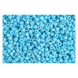 Rocailles hellblau opak 2,5mm Perlen - 500g Großpackung (ca. 16.000 Stück)