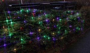 Best Season LED-Lichternetz, 90tlg., ca. 2 x 1 m Farbe bunt, outdoor, mit Trafo, Kabel:schwar, 498-61