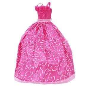 Schockierenden Kleid Rosa Barbie-Puppe Kleid Prinzessin Hochzeit