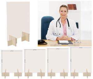 Thekenaufsatz Glasscheibe Virenschutz, Spuckschutz Größen wählen:56 cm x 60 cm