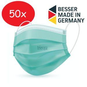 TECHNIMASK 100 Alltagsmaske ( Germany Mund- und Nasen-Bedeckung, mehrlagige Einweg-Maske aus hochwertigem Vlies), Menge:50