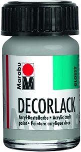 "Marabu Acryllack ""Decorlack"" metallic silber 15 ml im Glas"