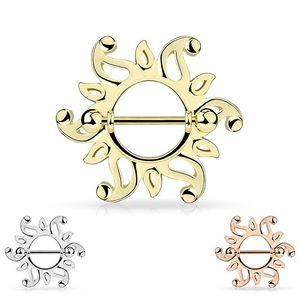 """Brustwarzenpiercing Nippelpiercing """"Tribal Sonne"""" Nipple Shield, Farbe:Silber"""