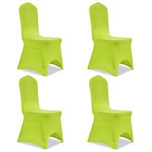 SIRUITON Stretch Stuhlbezug Stehtischhusse Tischhusse Husse für Stehtisch Bistrotisch Tisch 4 Stück Grün