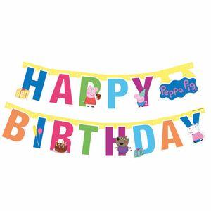 fahnenzeile Peppa Pig Happy Birthday junior 143 cm Karton