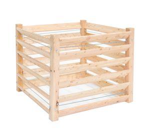 Westmann Holz Komposter 100x100x80 cm natur Lärche Holzkomposter Kompostkiste