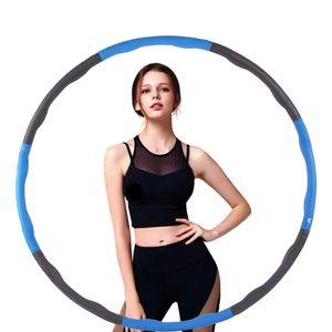 Hula Hoop Kinder Bauchtrainer & Hula Hoop Fat Loss Indoor Fitness Blau + Grau