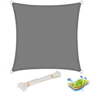 Sonnensegel Sonnenschutz HDPE Windschutz UV Schutz Grau : 5x5m