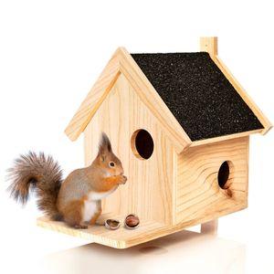 Eichhörnchen Kobel aus Naturholz - Nistkasten ca. 39x33x34,5cm   Nest für wildlebende Eichhörnchen : Futterspeicher Futterstelle Futterstation Haus