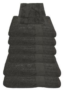 Julie Julsen® Handtuch Sets, Farbauswahl:Grau, Auswahl Handtuchset:8 tlg. 2 Bade- 4 Handtücher + gratis 2 Waschhand..