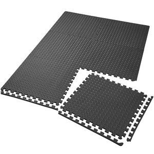 tectake Bodenschutzmatte 6-tlg. - schwarz