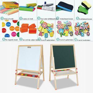 WYCTIN 2 in1 Kreidetafel Schreibtafel Kindertafel Standtafel Zeichenbrett Spieltafeln Doppelseitige Höhenverstellbar 80cm-148cm