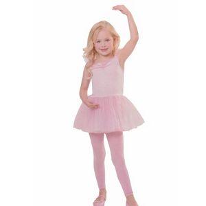 BALLERINA TÜTÜ MÄDCHEN ROSA Kleid Kinder Ballett Trikot # Gr. M / 122 bis 128/134 (7-10 Jahre )