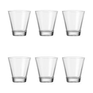 Leonardo Ciao Becher Klein 6er Set, Trinkglas, Wasserglas, Saftglas, Glas, 250 ml, 35452