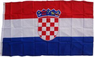 Flagge Kroatien 90 x 150 cm - Fahne- reißfest - rissfest - Hissfahne- Hissflagge - Sturmflagge -zum hissen - ! - keine billige Chinaqualität!