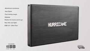 "Hurricane 9.5mm GD25612 1TB 2.5"" USB 3.0 Externe Aluminium Festplatte fr Mac, PC, PS4, PS4 Pro, Xbox, Backups"