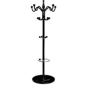 Deuba Garderobenständer Kleiderständer mit Marmorfuß Standgarderobe Garderobe Metall , Farbe:schwarz 3
