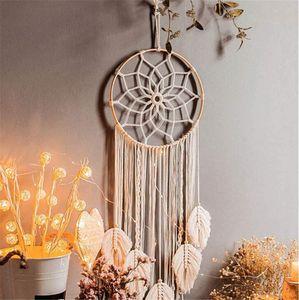 Makramee Traumfänger, Wandbehang, Boho Handgemachte Traumfänger für Schlafzimmer Wohnzimmer Dekoration