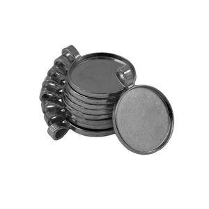 10 Stück Leere Runde Lünette Fach Basis Cabochon DIY Anhänger 25mm Handwerk