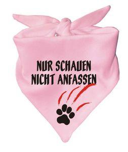 Hunde Dreiecks Halstuch (Fb: rosa) Nur schauen nicht anfassen
