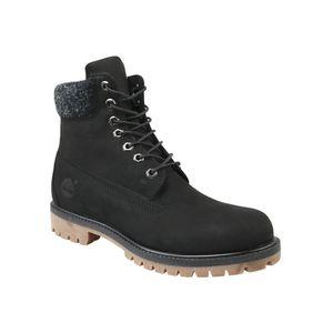 Timberland Premium Herren Winterstiefel Schwarz Schuhe, Größe:43 1/2