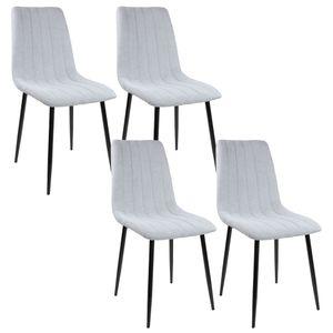 Albatros Esszimmerstühle GARDA Stoff, Stückzahl:4-er SET, Farbe:Grau