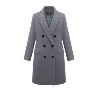 Damen Temperament Winter Windjacke warme Jacke,Farbe: grau,Größe:5XL