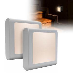 2x LED Nachtlicht Steckdose Nachtleuchte für Schlafzimmer Warmweiß