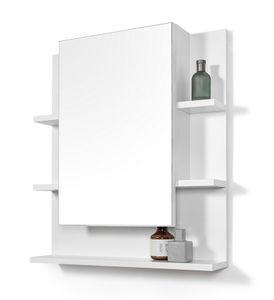 Badezimmer Spiegelschrank mit Ablagen Badezimmerspiegel Weiß Spiegelschrank 60 x 70 cm